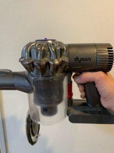 ダイソンDC74 ゴミ捨て