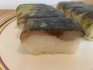 【華ずし】炙り金華鯖寿司 断面